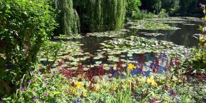 Pond in Monet's Water Garden in Giverny, France.