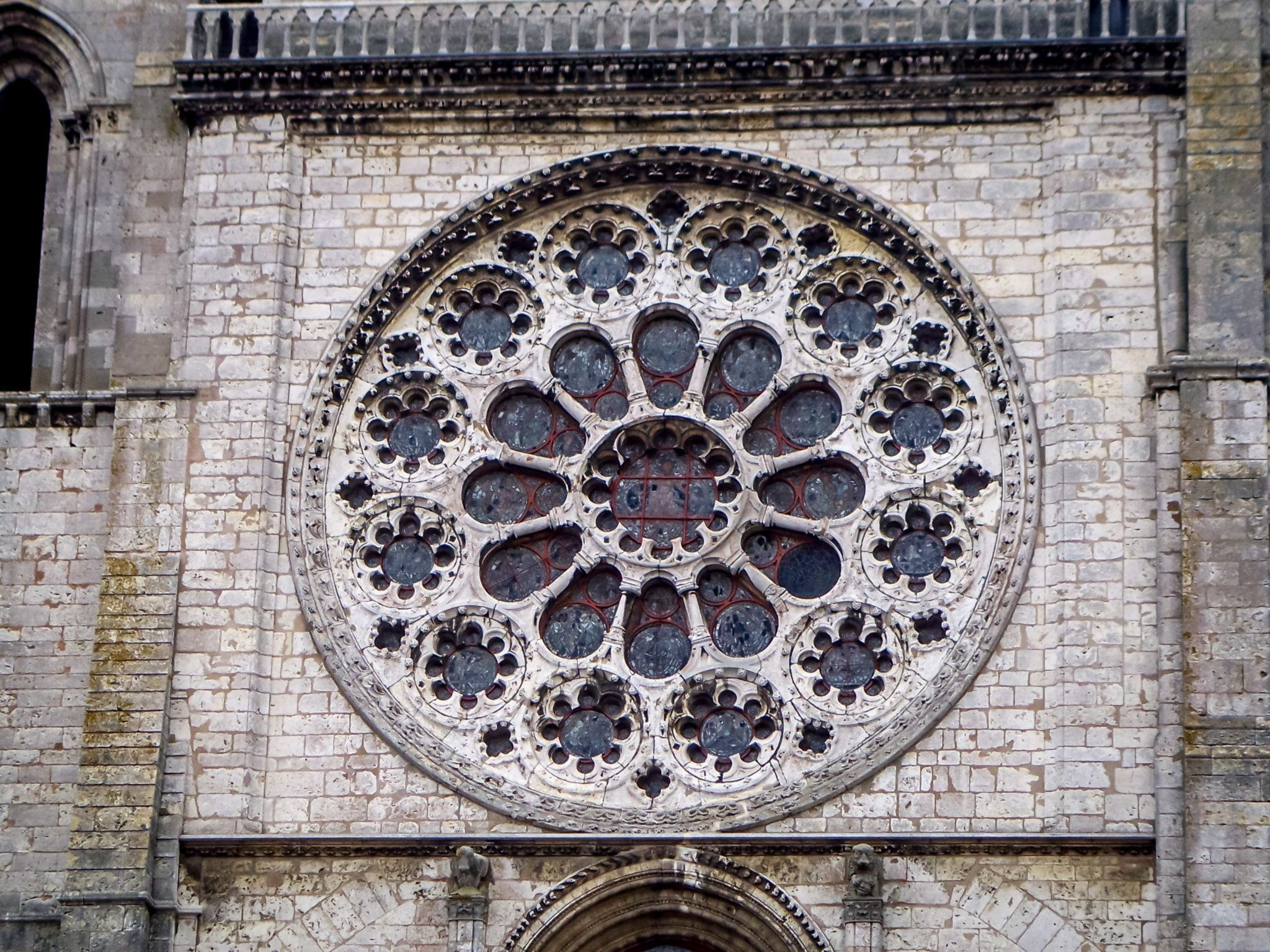Stained glass window at Chartres Cathedral, a UNESCO World Heritage site in France