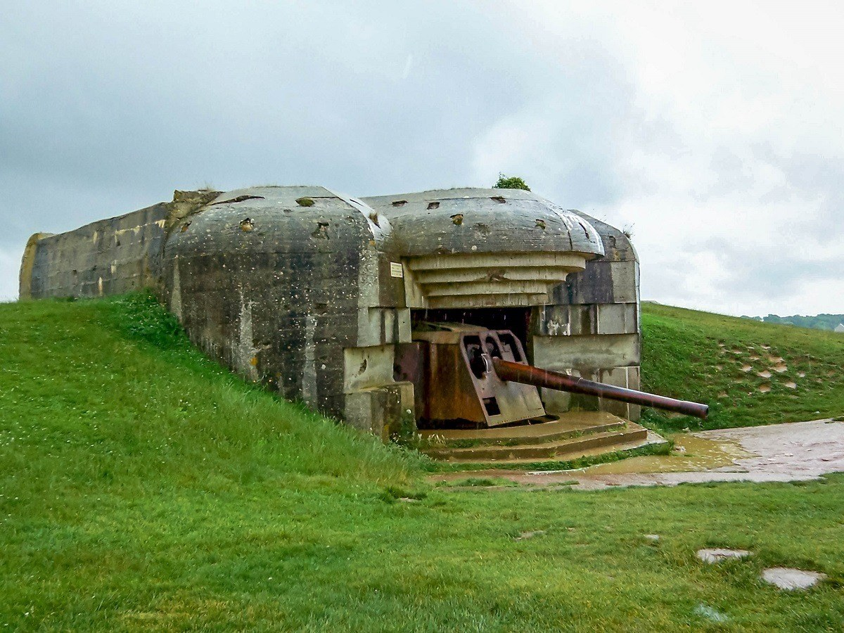 The Longues sur Mer gun battery in Normandy, France.