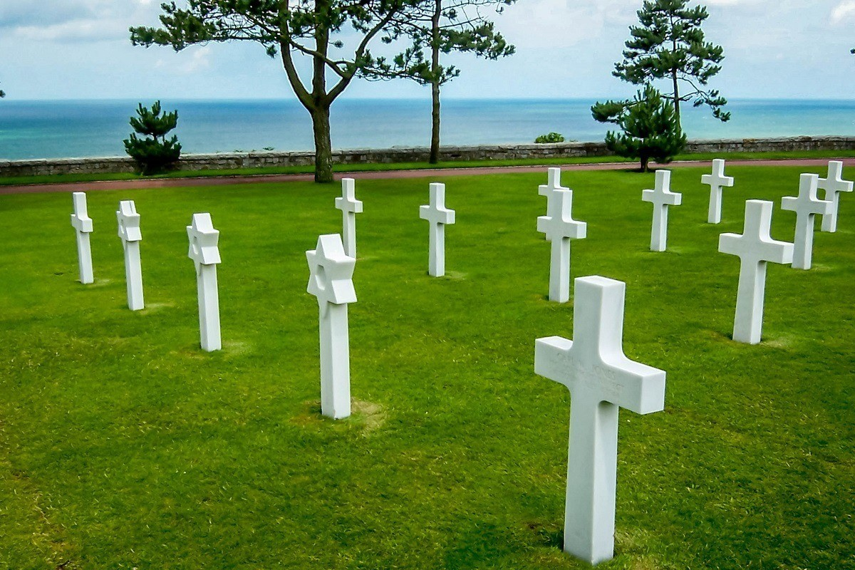 The American Cemetery in Normandy, France.