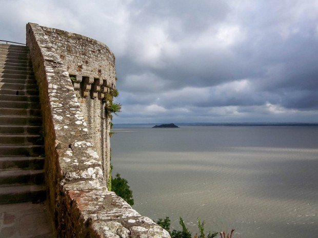 Views of the bay from the walls of the Abbey.