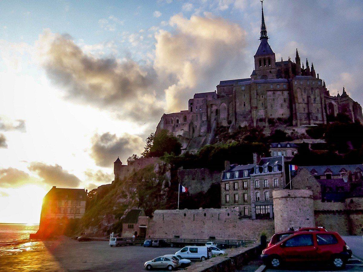 Mont Saint-Michel at sunset