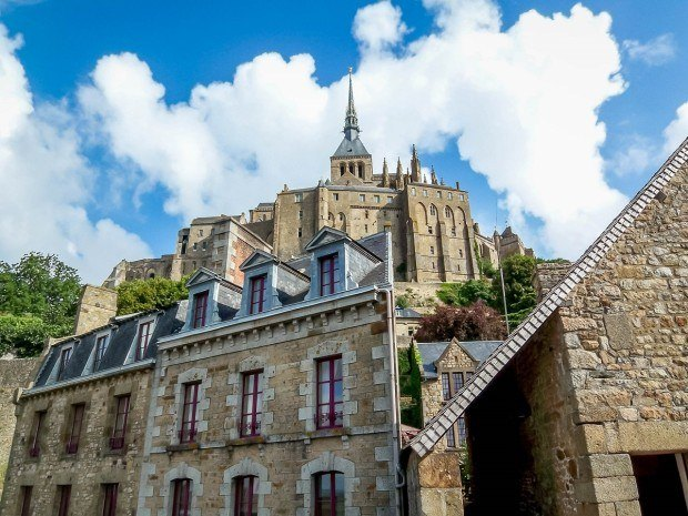 The Abbey above the town on Mont Saint-Michel.
