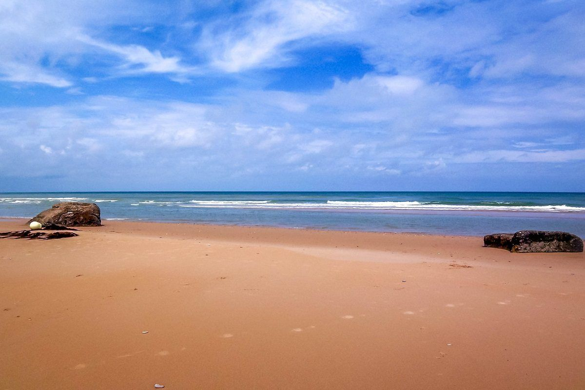 The tranquil beaches of Normandy, France today - a far cry from D Day casualties during the Battle for France.