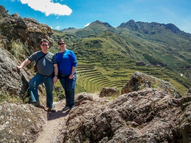 Hiking in the Sacred Valley at Pisac, Peru