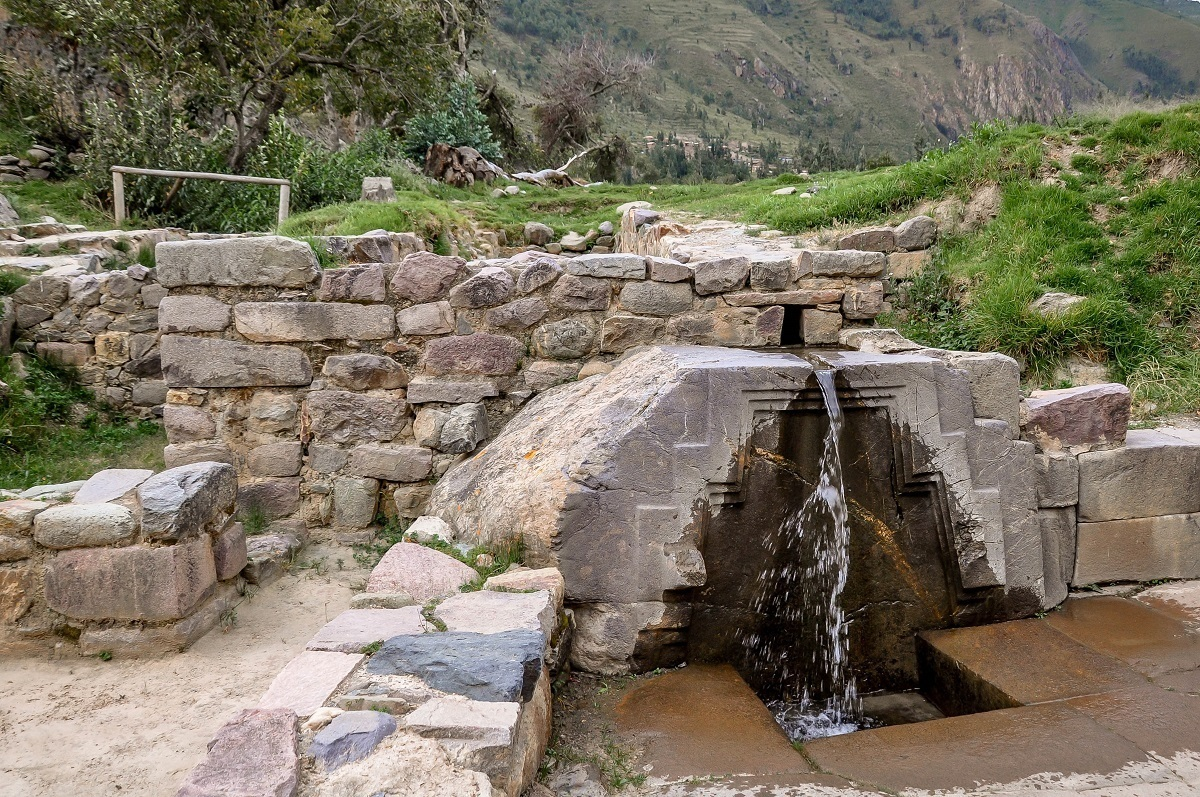 Bath of the Princess fountain at Ollantaytambo, Peru