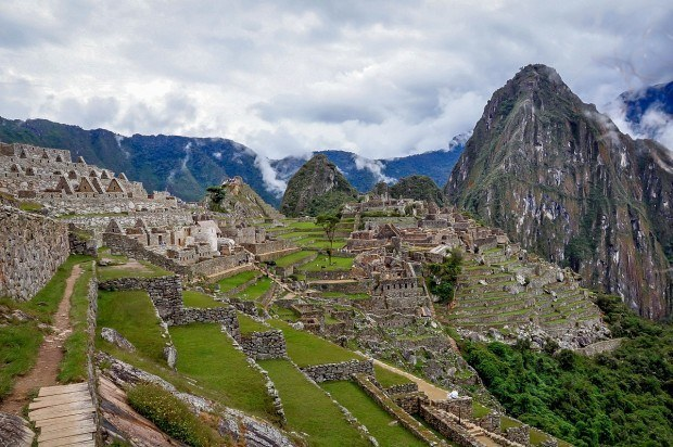 Overlooking Machu Picchu in Peru