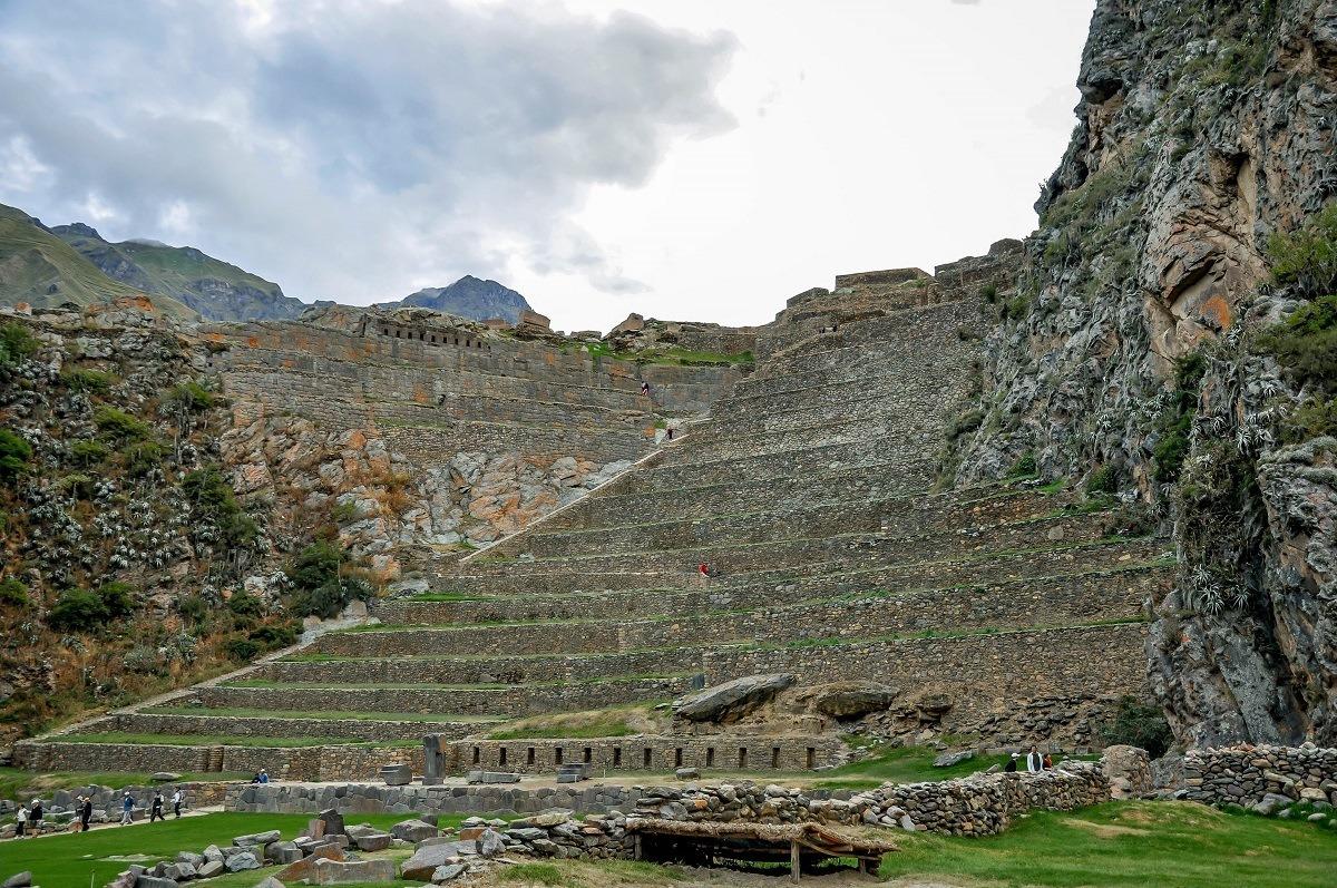 Terraces and buildings of Ollantaytambo, Peru