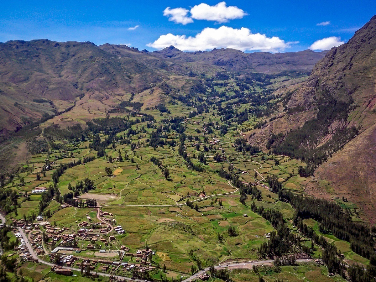Looking down the valley in Pisac, Peru, part of the Sacred Valley