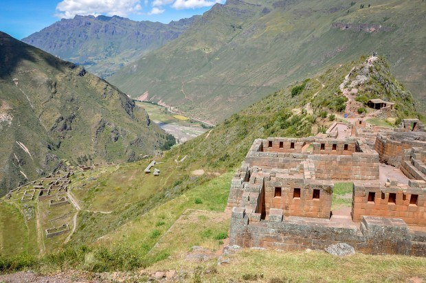 Pisac ruins in the Sacred Valley of Peru