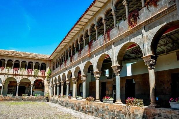 Visiting the convent of Santo Domingo in Cusco.