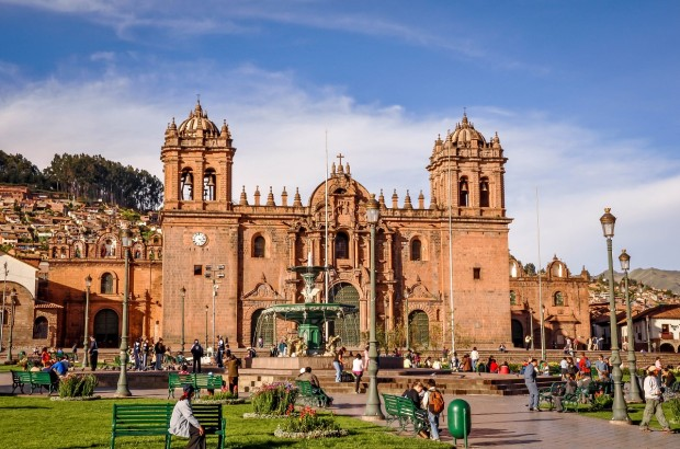 The Cathedral of Santo Domingo in Cusco, Peru.