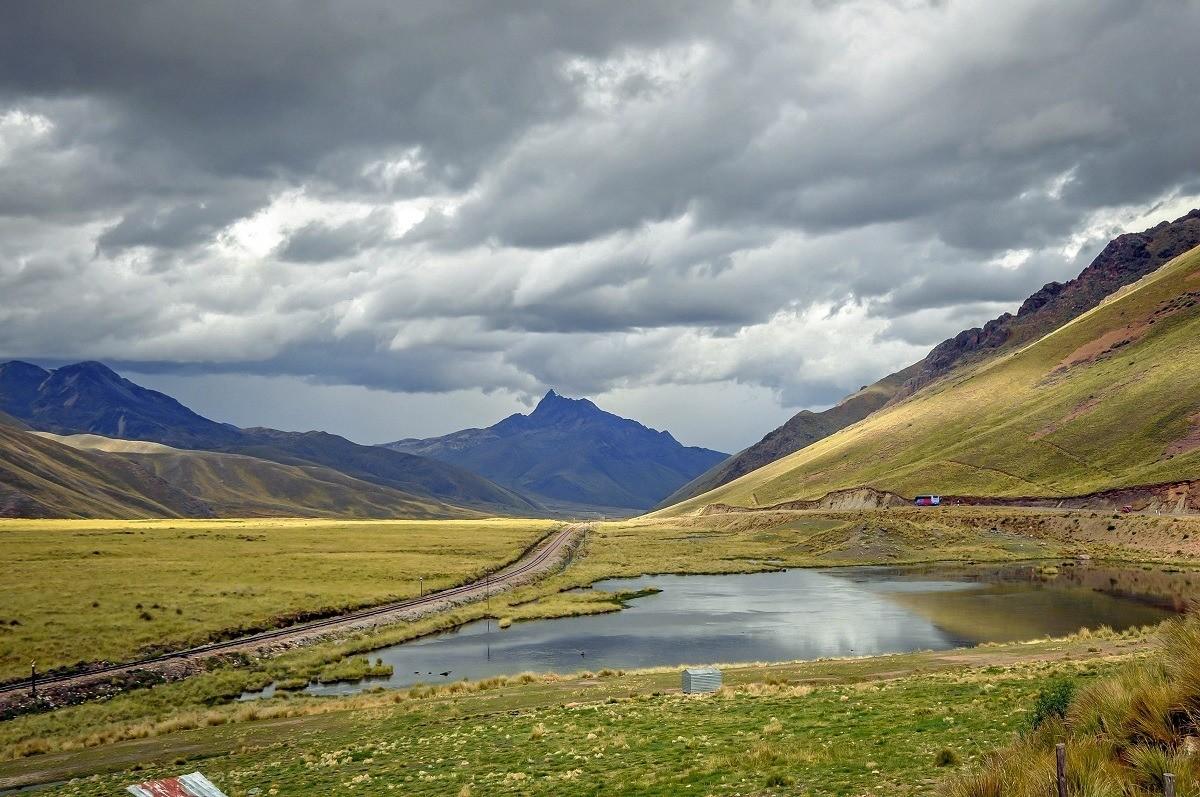 La Raya Pass on the drive from Cusco to Puno, Peru.