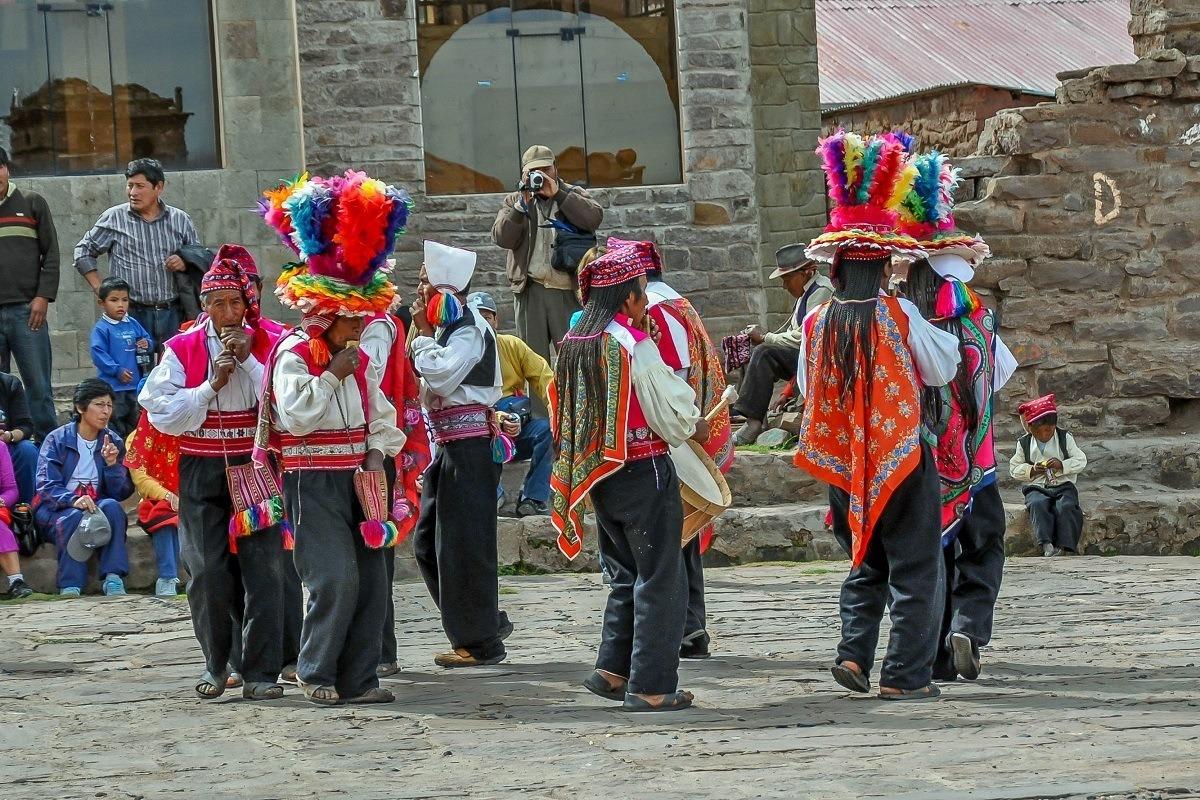 Celebration on Taquile Island in Lake Titicaca