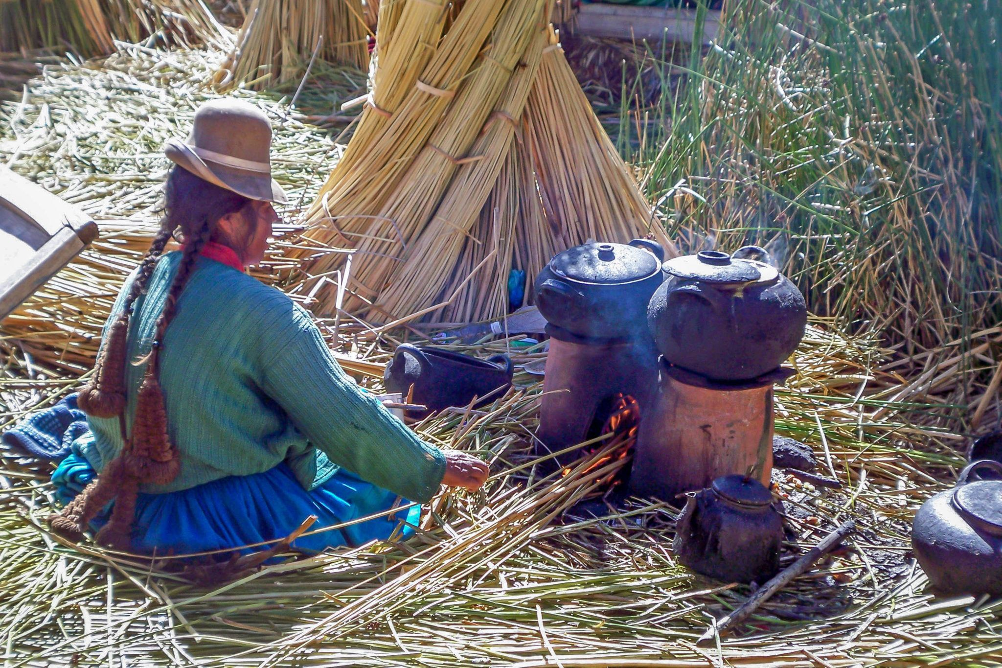 Cooking on the Uros Islands in Peru