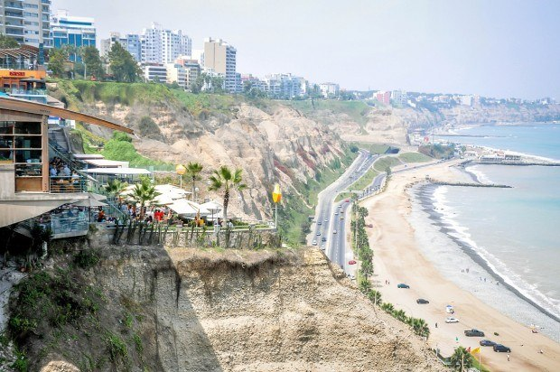 Walking along the Malecon is one of the prettiest things to do in Lima, Peru