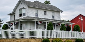 The house at the Field of Dreams location in Dyersville, Iowa.