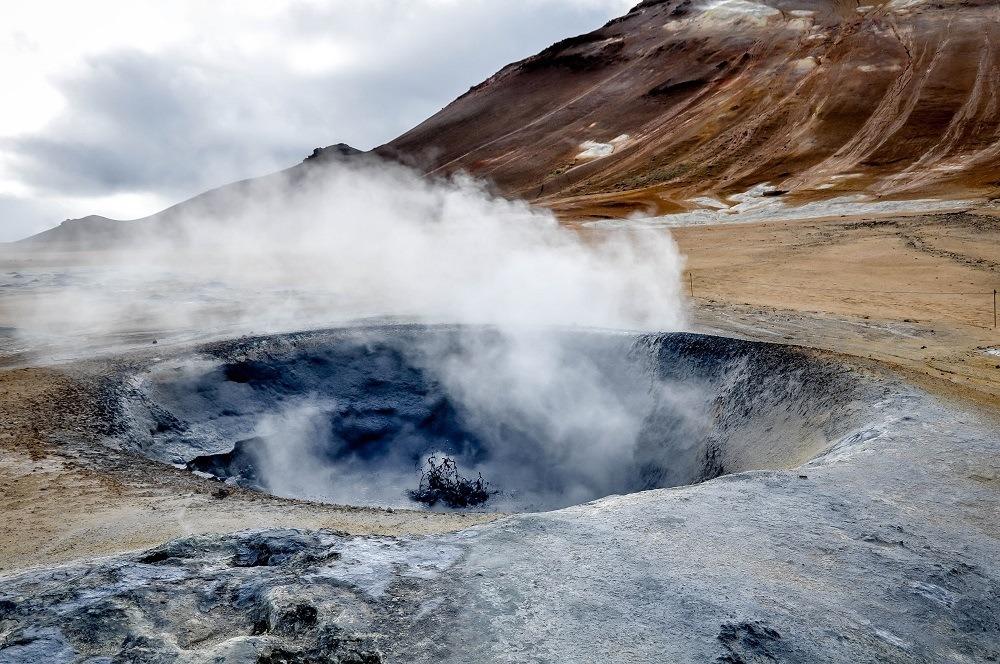 Boiling mud pits near Myvatn Iceland