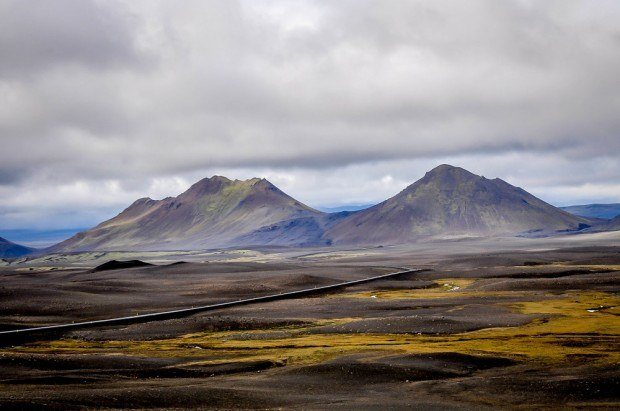 volcanic rock and landscape of Dimmifjallgardur near Myvatn Iceland