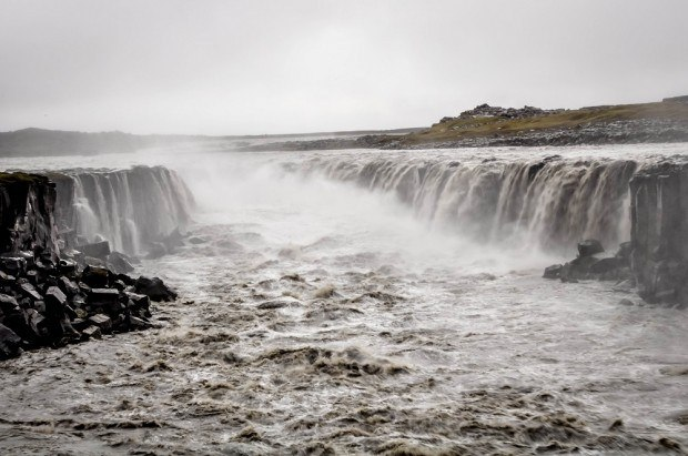 Massive Selfoss waterfall