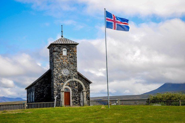 The Ring Road Iceland photos:  The Pingeyrakirkja Church.  While a 7 day Iceland itinerary will get you to most sites.  But if you really want to see all of the country, you really need an Iceland itinerary 10 days.