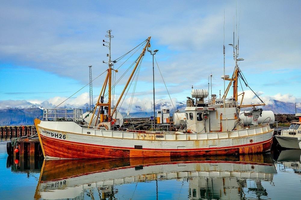 Fishing boat in Husavik harbor