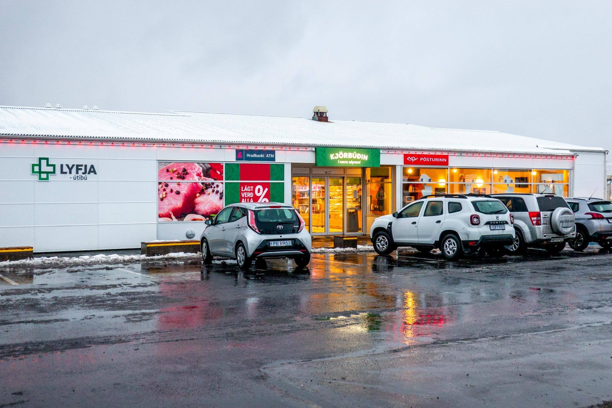 Some Iceland gas stations have full grocery stores, pharmacies, liquor stores, and even a restaurant.