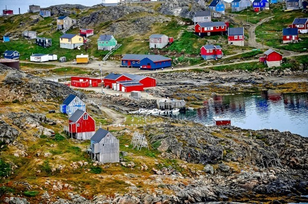 Kulusuk's brightly-colored houses when we were visiting Greenland