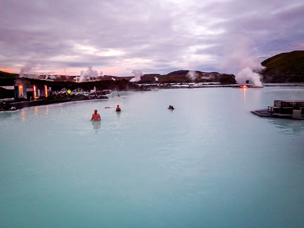 Swimmers in the Blue Lagoon