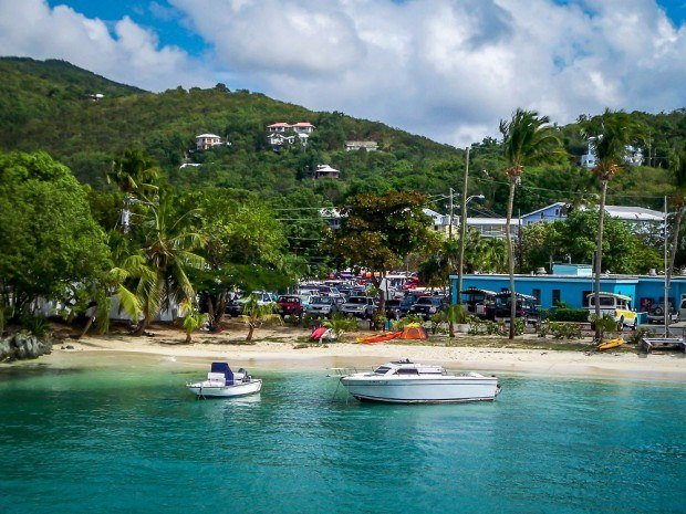 How to get to Trunk Bay from St Thomas. The Red Hook Ferry to St. John from St. Thomas arrives in Cruz Bay, St. John.  Trunk Bay is very close to Cruz Bay.