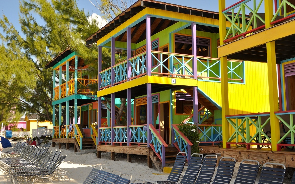 "The ""ultimate in luxury"" Half Moon Cay Beach Villas offer shade, refreshments, air conditioning and even a hot tub."