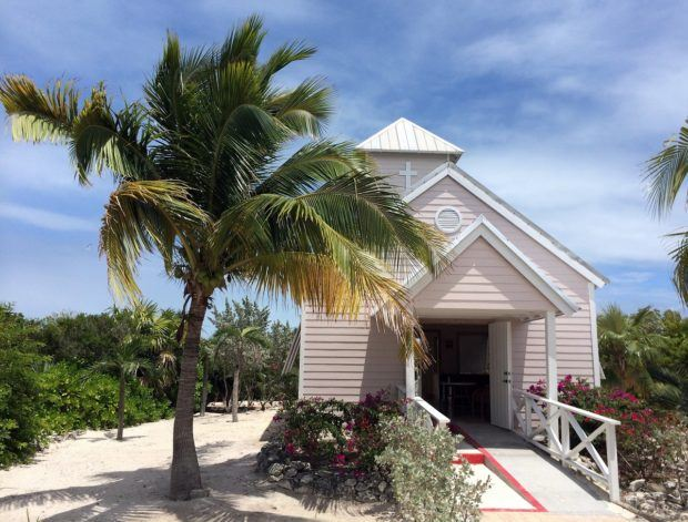 The Bahamian Church on Half Moon Cay.  Weddings and vow renewals is a popular Half Moon Cay things to do.