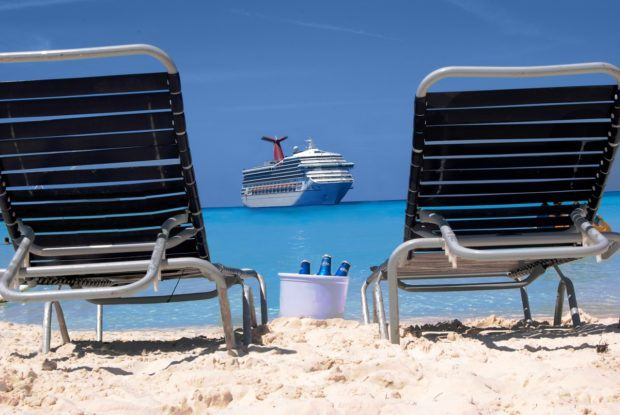 Spending time on the beach is one of the best things to do in Half Moon Cay Bahamas.
