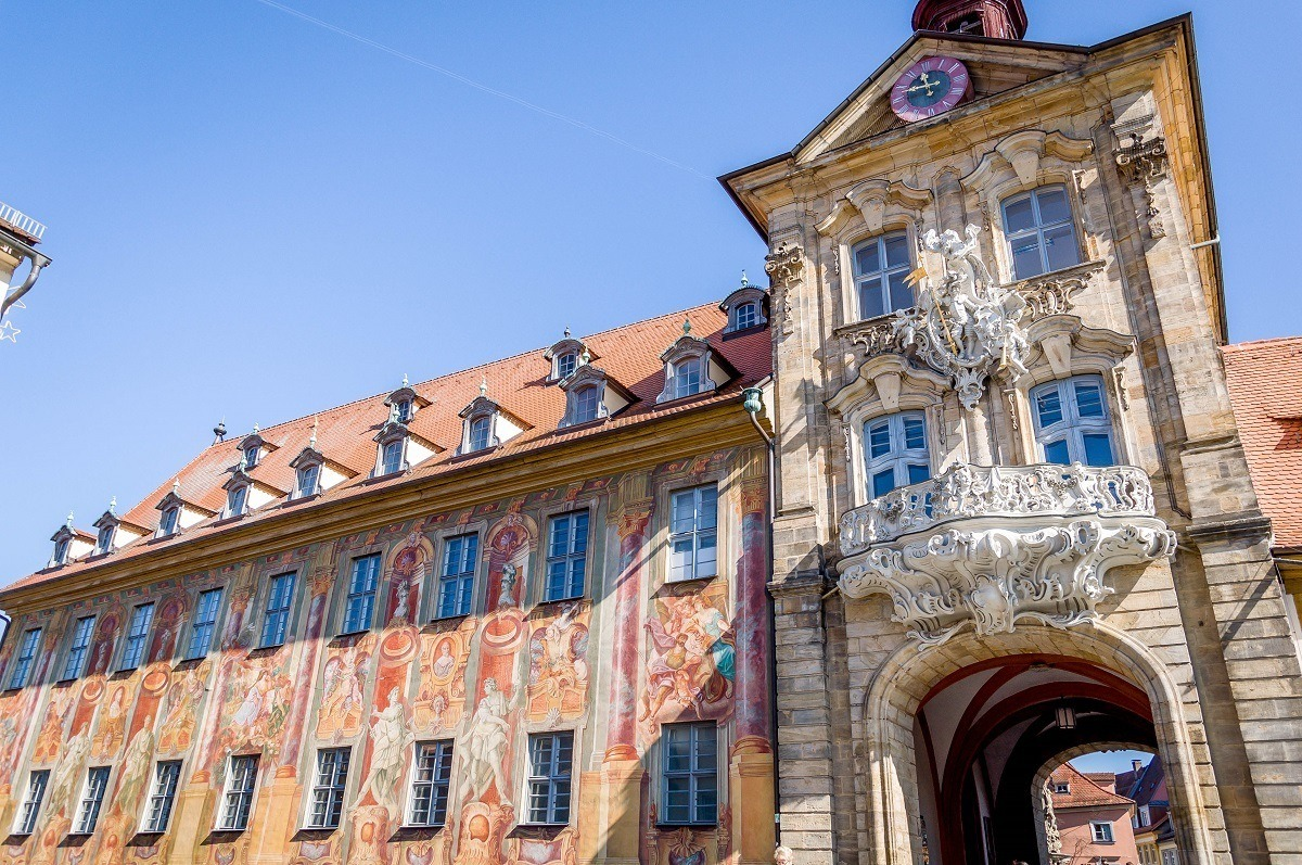 The Alte Rathaus in Bamberg, Germany.