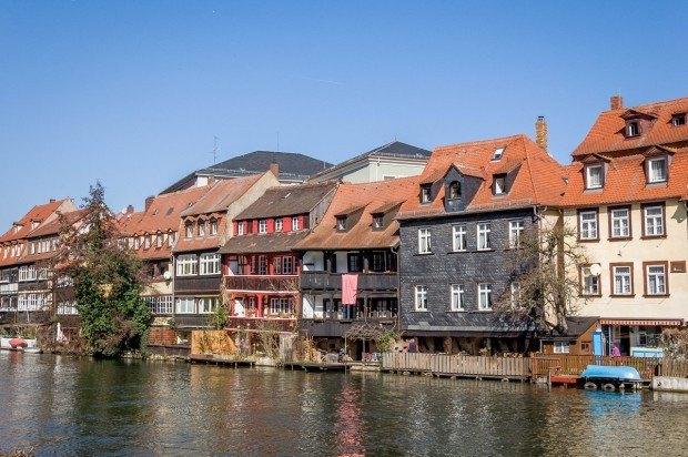 "The ""Little Venice"" neighborhood in Bamberg, Germany."