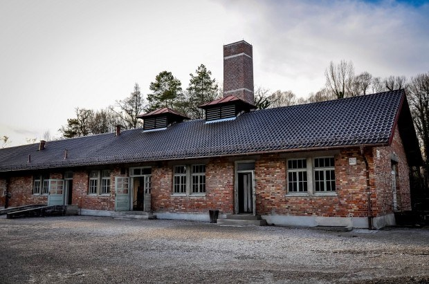 Crematorium seen visiting Dachau concentration camp in Germany