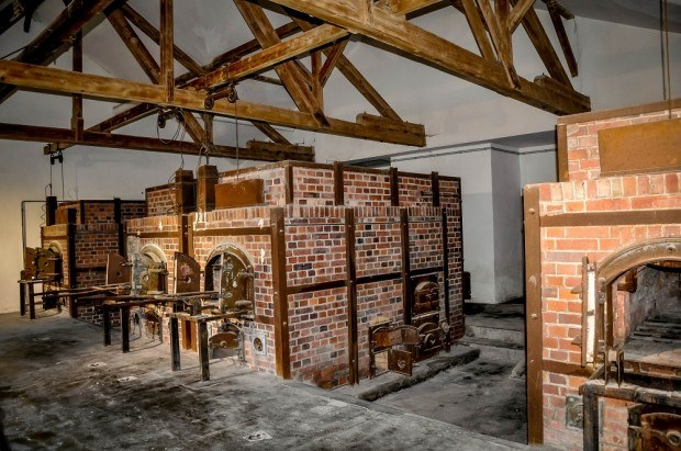 Crematory ovens at Dachau concentration camp in Germany