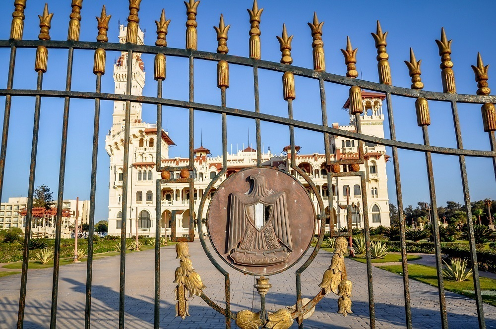 Presidential palace in Alexandria Egypt