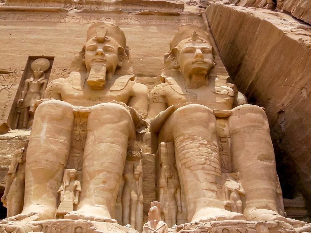 Rameses II statues at Abu Simbel Egypt