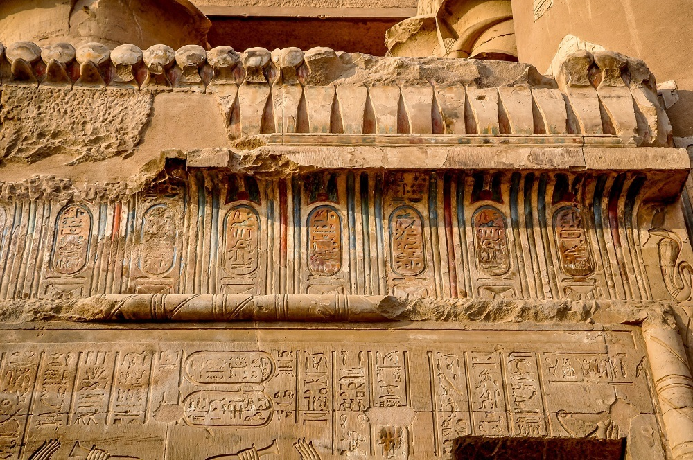 Carvings at Kom Ombo temple