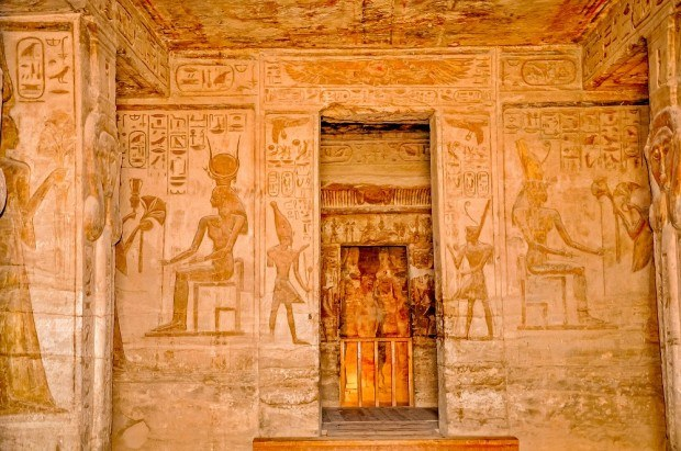 Carvings at the Temple of Nefertari at Abu Simbel
