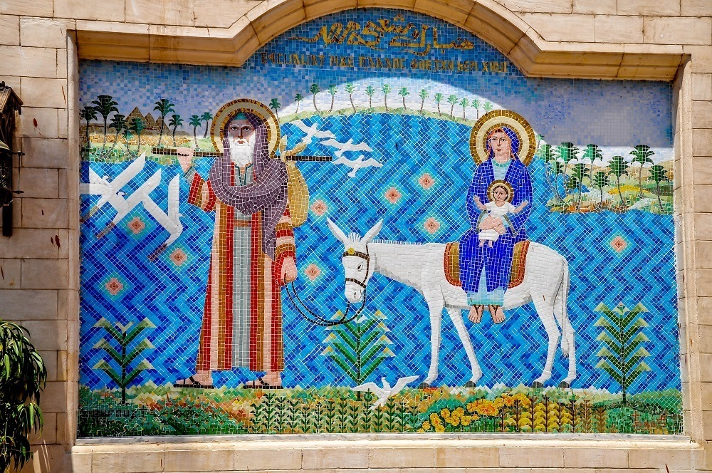 Greek-style mosaic at the Hanging Church in Coptic Cairo