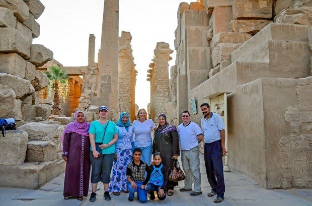 People in Karnak Temple