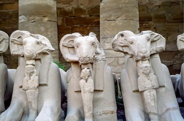 Egypt-Karnak-goat-sphinx
