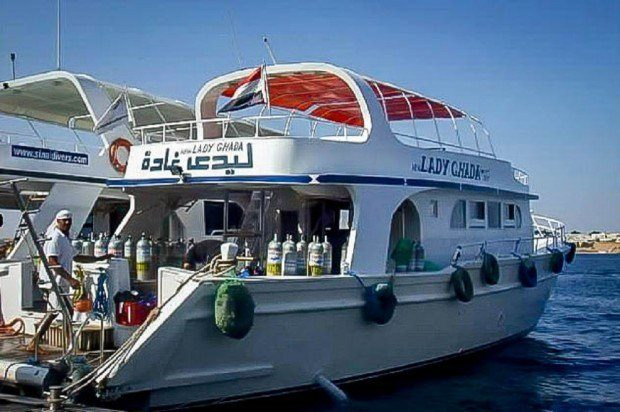 Lady Ghada, our dive boat in Sharm el Sheikh Egypt
