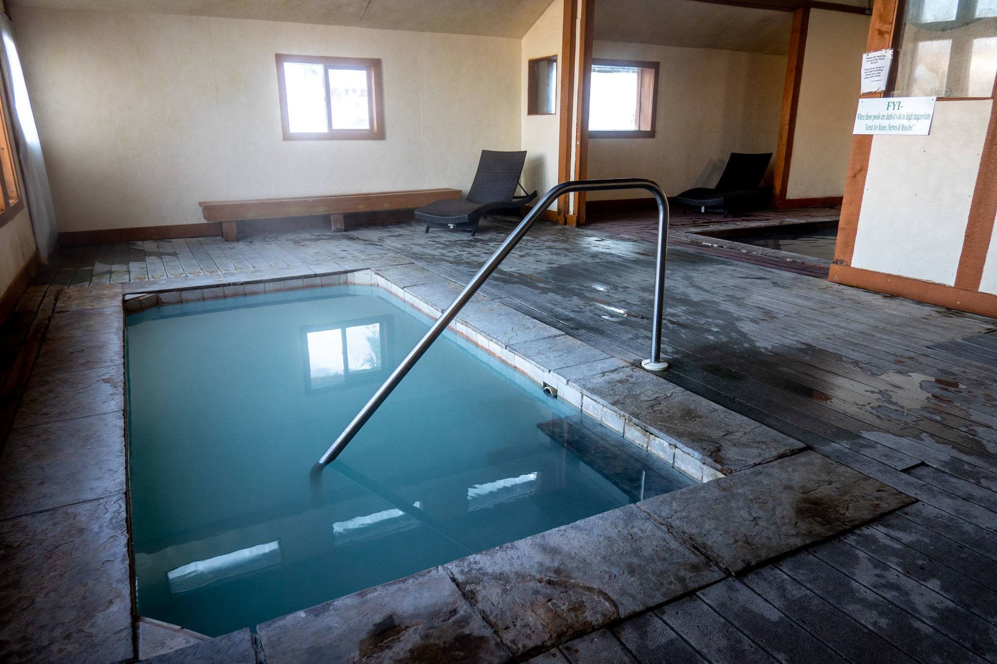 Indoor pool at the Hot Sulphur Springs Resort & Spa.