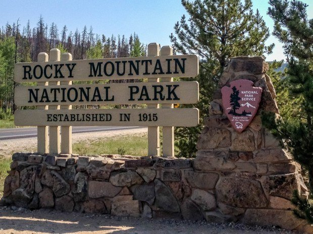 Less than 1 mile outside of Grand Lake, Colorado is the western entrance to the Rocky Mountain National Park.