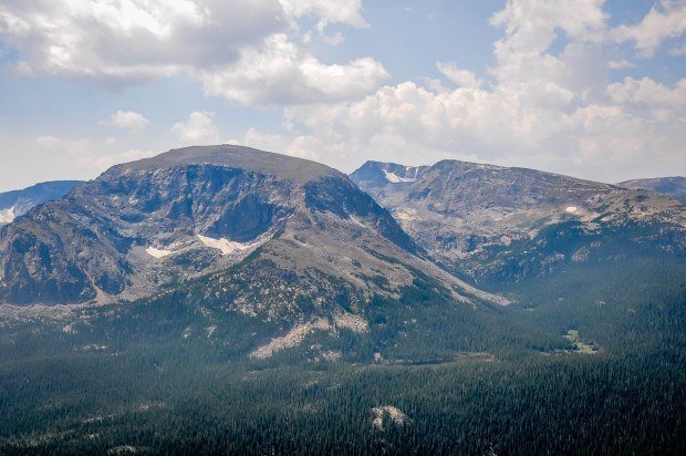 The Rocky Mountains from Trail Ridge Road inside RMNP.