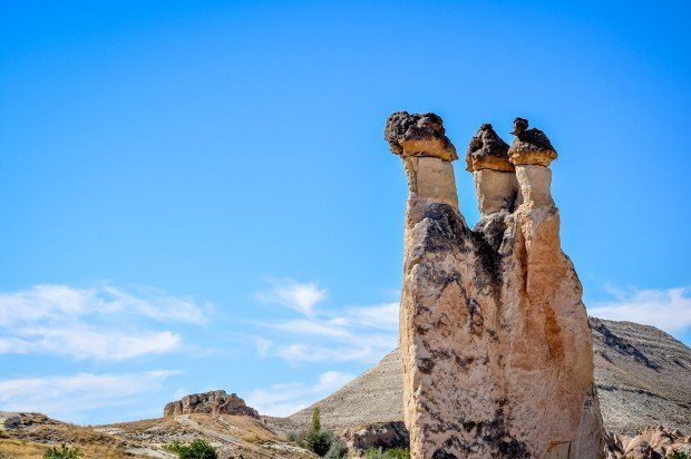 The stone pillars at Pasabag in Cappadocia.