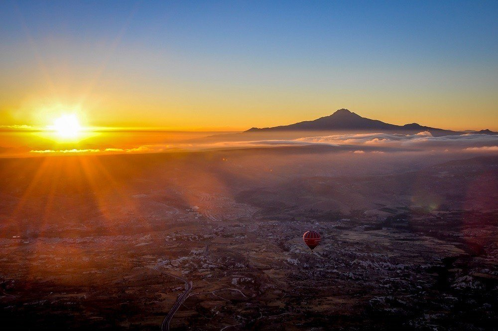 Sunrise from 1,000 feet above the ground